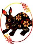 Black Designed Rabbit