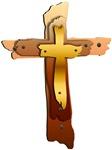 Three Rustic Crosses