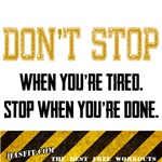 Don't Stop Workout Gear