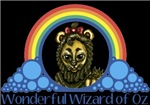 With all the colors of the rainbow, this Wonderful Wizard of Oz inspired design captures the Cowardly Lion Wonderful Wizard of Oz.  The perfect gift for any Oz fan.
