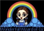 With all the colors of the rainbow, this Wonderful Wizard of Oz inspired design captures Dorothy Wonderful Wizard of Oz.  The perfect gift for any Oz fan.