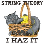 All physicists talk about string theory.   But only a cat truly understands what string theory is all about.  A cute gift for any physicist.