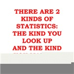 funny statistics joke on gifts and t-shirts.