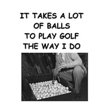 golf ball humor on gifts and t-shirts