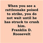 franklin delano Roosevelt quotes gifts t-shirts