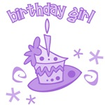 Purple Birthday Girl Cake