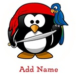 Personalized Pirate Penguin Shirts
