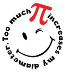 Too Much Pi Funny Tee Shirts