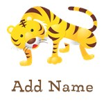 Custom Name Tiger