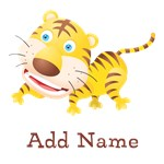 Cute Tiger Custom Name