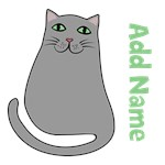 Personalized Name Cute Grey Cat