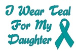 Ovarian Cancer Support Daughter T-shirts