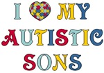 I Love My Autistic Sons T-shirts