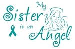 Ovarian Cancer Angel Sister T-shirts
