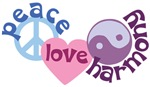Peace Love and Harmony T-shirt ~ Peace love and harmony t-shirts and cute harmony gifts.