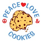 Peace Love Cookies T Shirts