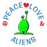Peace Love Aliens Shirts