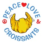 Peaced Love Croissants Shirts