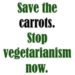 Save the Carrots: Funny Meatatarian T-Shirts & Gif