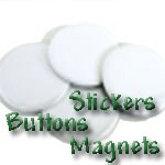 Meat Vegetable Stickers, Buttons & Magnets