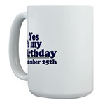 Large Mugs for October Birthdays
