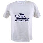 T-Shirts for December Birthdays
