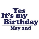 May 2nd Birthday T-Shirts & Gifts