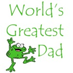 World's Greatest Dad Father Frog T-Shirts & Gifts