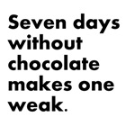 7 Days Without Chocolate