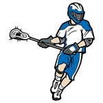 Blue Lacrosse Player