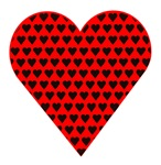 Red Heart With Black Hearts