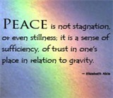 Peace is Not Stagnation