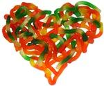 Gummy Worm Hearts!