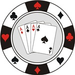 Four Aces Poker Chip