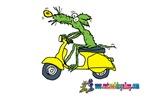 Moped Mouse by Tamara Warren