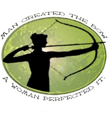 women's archery competition  logo on T-shirts and