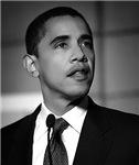 Black and White Obama Photo