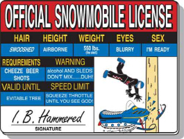 Snowmobile License tee