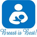Breast is Best with Symbol in Blue