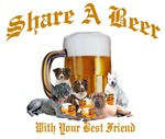 Share A Beer With Weimaraner and Friends