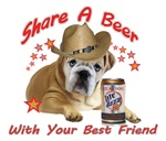 Bull Dog Share A Beer