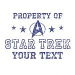 Property of Your Text Star Trek