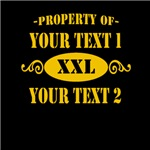 Property of Your Text Gold