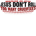 Jesus don't roll - too many crucifixes