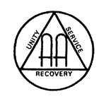 AA Symbol with the words Unity Service Recovery