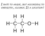 Alcohol is the solution!