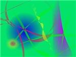 Abstract Green Planet Art
