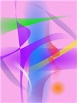 Lavender Free Forms Abstract Painting