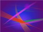 Purple Navy Crossing Colorful Lights
