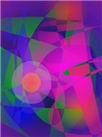 Geometrical Pink Blue and Green